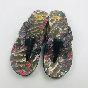 Dr. Martens Men's Mana Tattoo Koi Fish Flip Flops